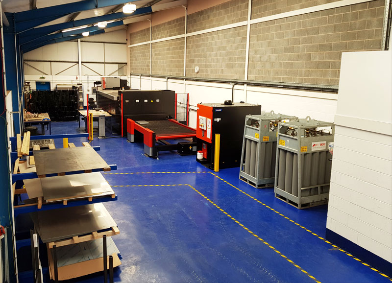 Our Laser Cutting and Fabrication Division. Just across the road from our main offices.